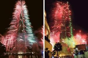 Fogos no Burj Khalifa