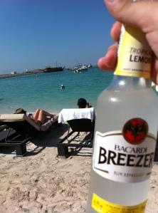 Bebidinhas na praia na frente da minha casa