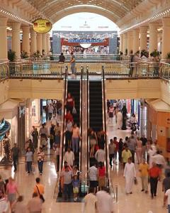 Dentro do shopping em Dubai (Mall of Emirates)