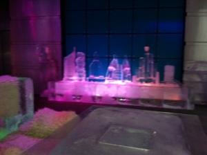 Esculturas de gelo dos pontos turísticos de Dubai