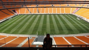Dentro do estadio