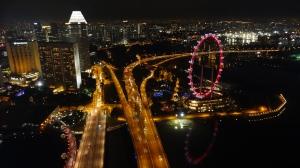 Vista da cidade a noite