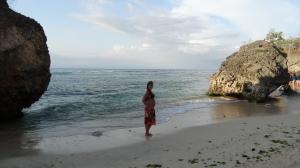 Barrigão na praia do filme