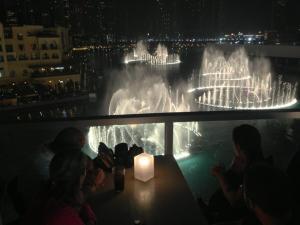 Show das fontes, vista de um dos restaurantes no 3o andar