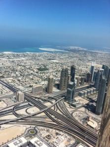 Uma das vistas do topo do Burj Khalifa