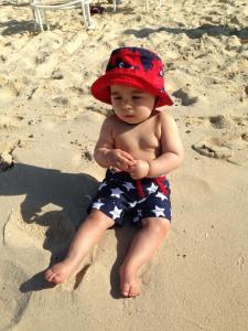 Daniel na praia